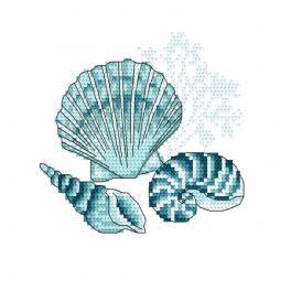 Vyšívací sada - Mořské mušle I
