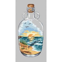 Předloha - Západ slunce v láhvi