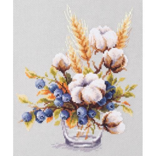 MN 100-013 Vyšívací sada - Kvetoucí bavlna a jahody