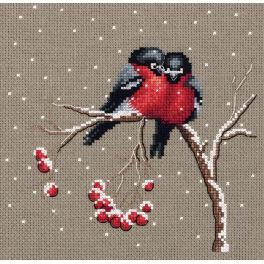 Vyšívací sada - Ptáčci v zimě