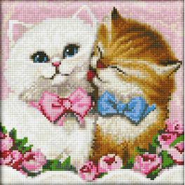 Diamond painting sada - Dvě koťata