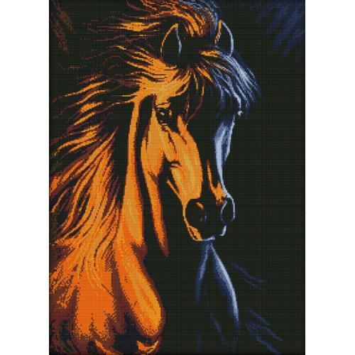 Diamond painting sada - Ohnivý kůň