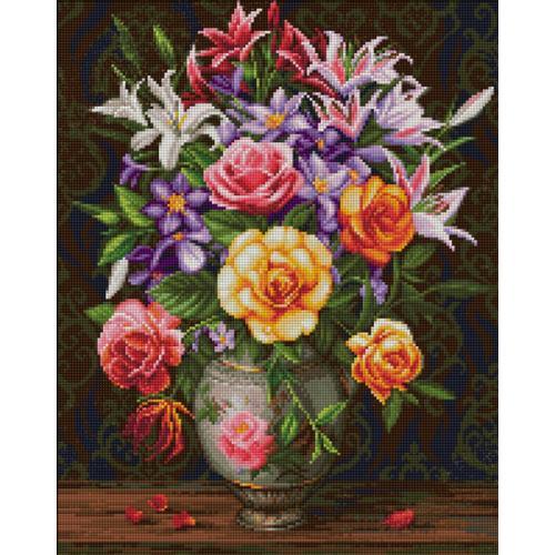 M AZ-1744 Diamond painting sada - Růže a lilie