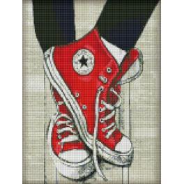 Diamond painting sada - Oblíbené sneakersy