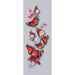 Vyšívací sada s mulinky a korálky - Motýli kouzlo