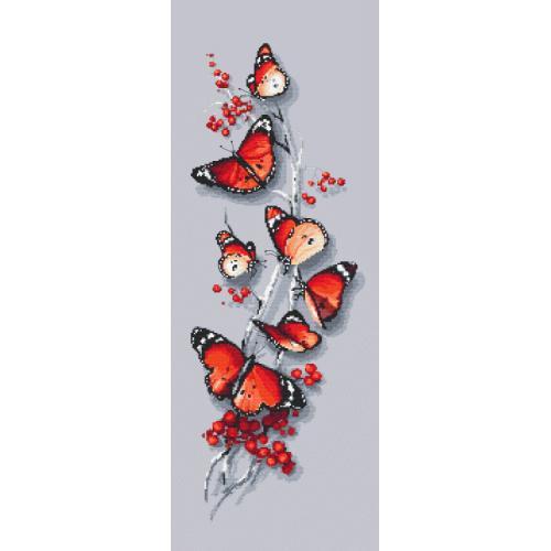 Vyšívací sada - Motýli kouzlo