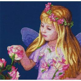 Vyšívací sada - Růžová víla