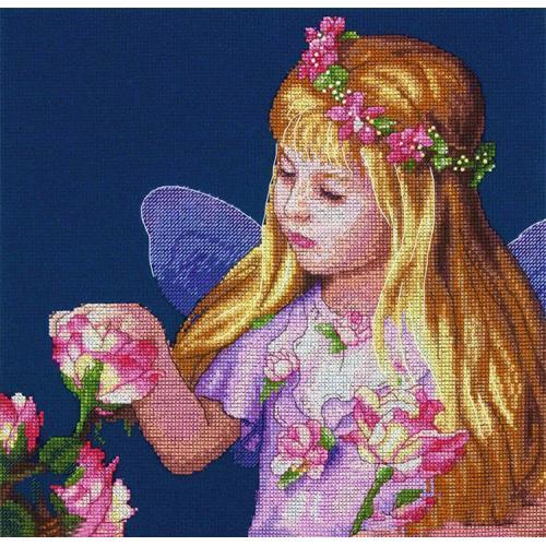 DIM 70-35297 Vyšívací sada - Růžová víla
