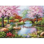 Vyšívací sada - Japonská zahrada
