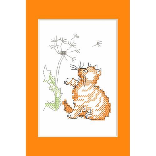 W 10229 Předloha ONLINE pdf - Karta na přání - Kotě