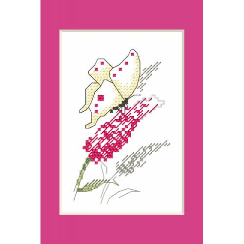 Vyšívací sada - Karta na přání - Motýl