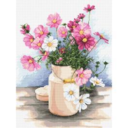Vyšívací sada - Domácí kytice