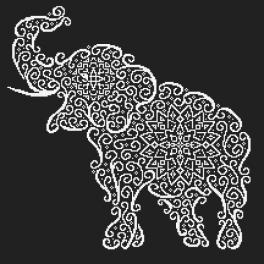 Předloha ONLINE - Krajkový slon
