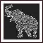 Vyšívací sada - Krajkový slon