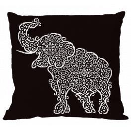 Předloha - Polštář - Krajkový slon