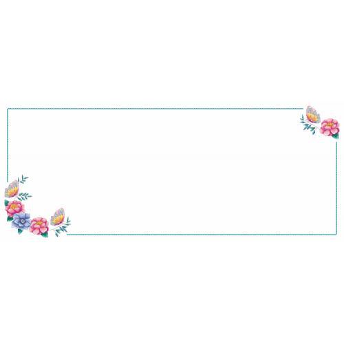 Předloha - Běhoun - Běhoun s květinami