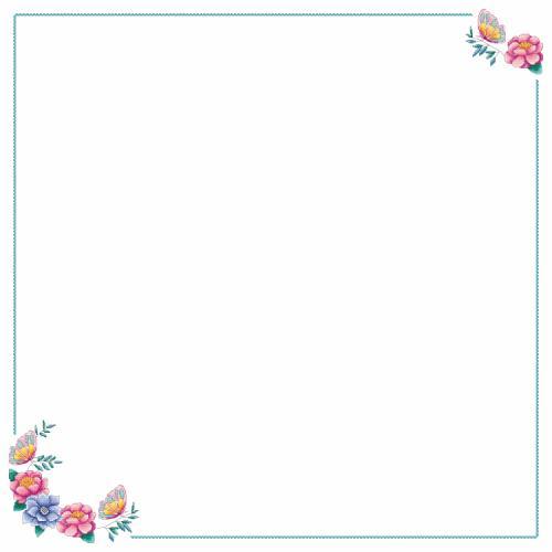 Předloha ONLINE - Ubrus s květinami