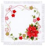 Sada s akrylovou příze - Vánoční ubrousek
