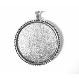 Základna medaliónu kulatá barva stříbro 40mm