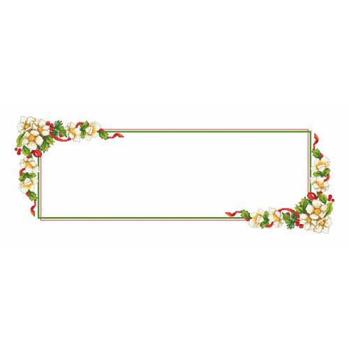 W 10194 Předloha ONLINE - Vánoční běhoun s květinami