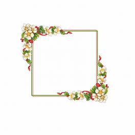 Předloha ONLINE - Vánoční ubrus s květinami