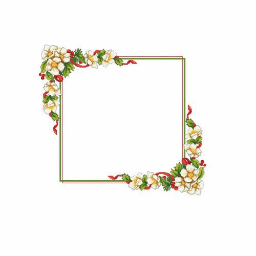 W 10196 Předloha ONLINE - Vánoční ubrus s květinami