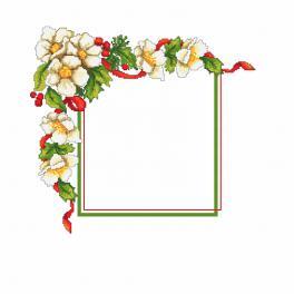 Předloha - Vánoční ubrousek s květinami