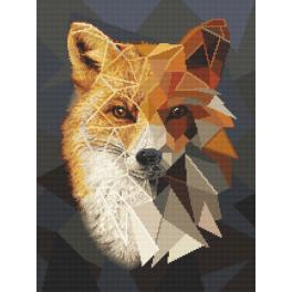Vyšívací sada - Mozaiková liška