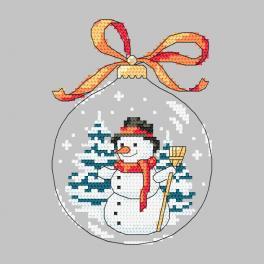 Předloha - Koule se sněhulákem