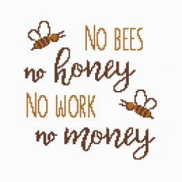 Vyšívací sada - Honey