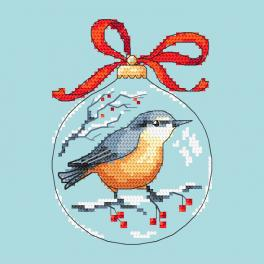 Vyšívací sada - Koule s ptáčkem