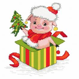 Vyšívací sada - Vánoční prasátko