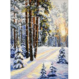 Vyšívací sada - Zimní cesta