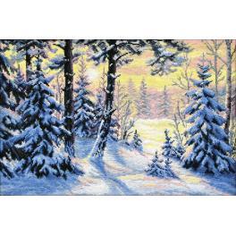 Vyšívací sada - Zimní les