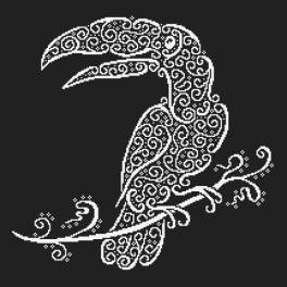 Předloha ONLINE - Krajkový toucan