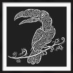 Vyšívací sada - Krajkový toucan