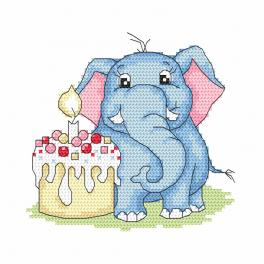Vyšívací sada - Elephant - Moje první narozeniny