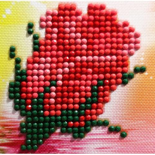DDS.004 Diamond painting sada - Poupátko růže