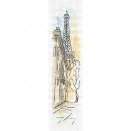 Vyšívací sada - Záložka - Pozdravy z Paříže