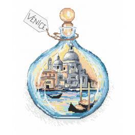 Vyšívací sada - Památka z Benátek