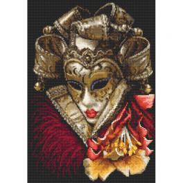 Předtištěná aida - Karnevalová maska