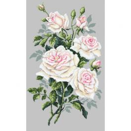 Vyšívací sada - Bílé růže