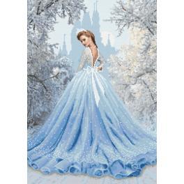 Předtištěná kanava - Sněhová dáma