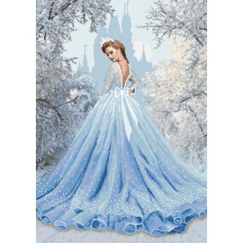 Předtištěná aida - Sněhová dáma