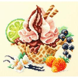 MN 120-071 Vyšívací sada - Vanilková zmrzlina