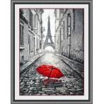Vyšívací sada - Déšť v Paříži