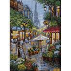 Vyšívací sada - Deštivé Paris