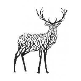 Vyšívací sada - Černý jelen