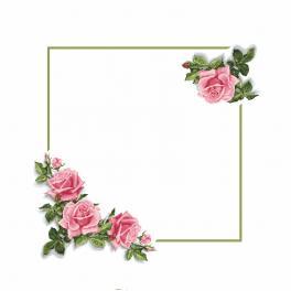 Předloha - Ubrus s růžemi 3D