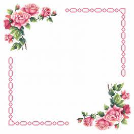 Předloha - Ubrus s romantickými růžemi